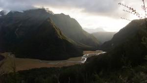 On the Routeburn Track, one of the 9 New Zealand Great Walks