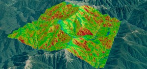 On-the-fly slope analysis in the Tararua Range