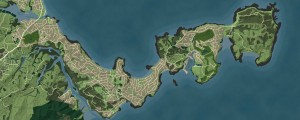 Geographx basemap - plan view of the Whangaparaoa Peninsula
