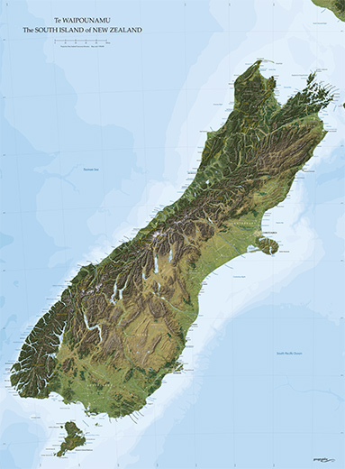 New Zealand South Island Google Maps